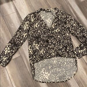 Button down long sleeve top